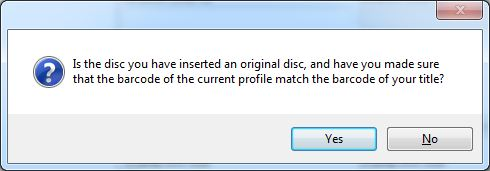Make sure it is the correct disc.