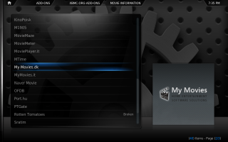 XBMC Configuration 1. Click for full screen.