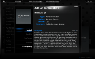 XBMC Configuration 2. Click for full screen.
