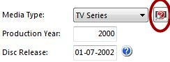 The lookup TV Series button