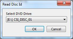 Specify in which drive to read the disc.