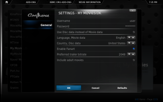 XBMC Configuration 3. Click for full screen.