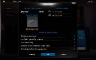 XBMC Configuration 4. Click for full screen.